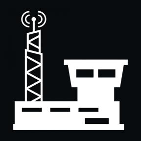 Icon Graphic - #SimpleIcon #IconElement #buildings #signal #building #construction #radio #antenna #communication