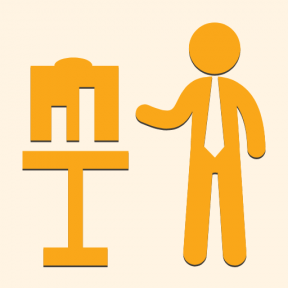 Icon Graphic - #SimpleIcon #IconElement #business #graphic #standing #stats #people #man #person #table