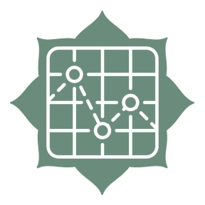 Icon Graphic - #SimpleIcon #IconElement #corners #inset #pointer #florets #label #rounded #gps #map #location #bg