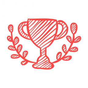 Icon Graphic - #SimpleIcon #IconElement #cup #sports #ribbon #trophy #prize #branches #sketch #sketched #sportive