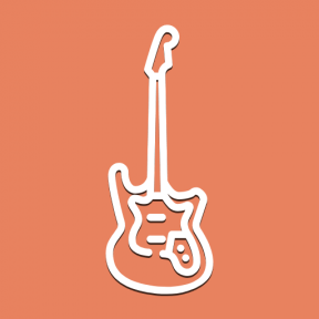 Icon Graphic - #SimpleIcon #IconElement #electric #instrument #musical #string #music #orchestra