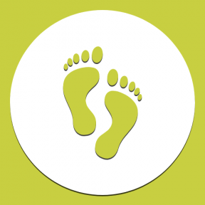 Icon Graphic - #SimpleIcon #IconElement #feet #human #circles #footprints #part