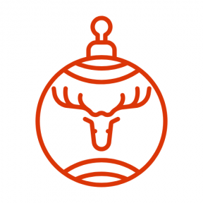 Icon Graphic - #SimpleIcon #IconElement #holiday #merry #ornamental #ornament #xmas #deer