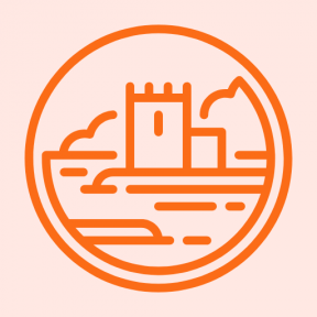 Icon Graphic - #SimpleIcon #IconElement #medieval #landscape #castle #nature #buildings