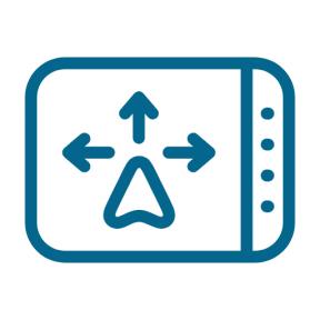 Icon Graphic - #SimpleIcon #IconElement #orientation #arrows #technology #pointer #smartphone #position #positional