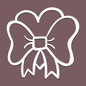 Icon Graphic - #SimpleIcon #IconElement #ornament #ribbon #bow #heart