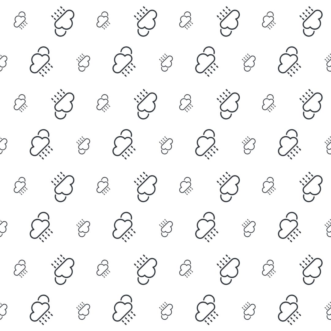 Pattern Design - #IconPattern #PatternBackground #meteorology #rainy #weather #moon #cloud #sun