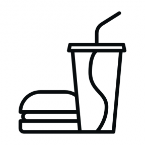 Icon Graphic - #SimpleIcon #IconElement #burger #drinks #meal #food #sandwich #junk