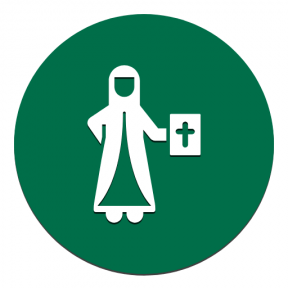 Icon Graphic - #SimpleIcon #IconElement #christian #add #adding #circle #religion #bible #people #nun #shapes #button