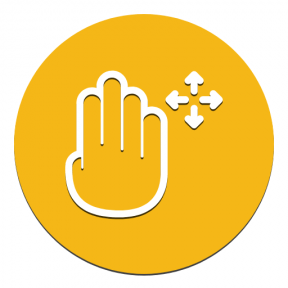 Icon Graphic - #SimpleIcon #IconElement #circle #circular #touch #screen #essentials #gesture #arrows #four