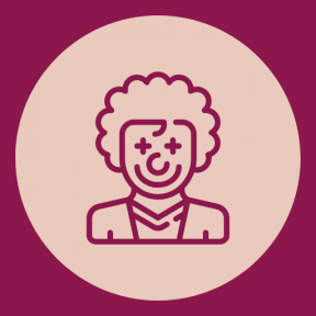 Icon Graphic - #SimpleIcon #IconElement #costume #circles #people #circus #round #rounded #carnival #shapes
