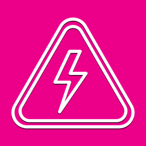 Icon Graphic - #SimpleIcon #IconElement #electric #warning #electricity #signs #signal #sign #shapes