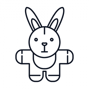 Icon Graphic - #SimpleIcon #IconElement #rabbit #toys #animals #toy #baby #bunnies