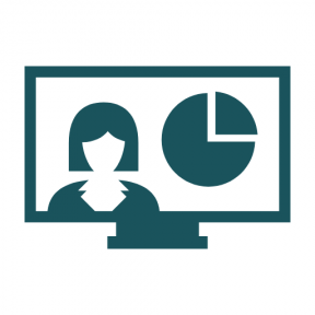 Icon Graphic - #SimpleIcon #IconElement #statistics #technology #monitor #computer #woman #stats