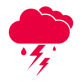 Icon Graphic - #SimpleIcon #IconElement #weather #bolt #raindrops #cloud #lightning #raindrop