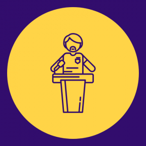 Icon Graphic - #SimpleIcon #IconElement #circle #mic #lecture #microphone #symbols #shape #men #shapes