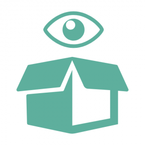 Icon Graphic - #SimpleIcon #IconElement #symbol #logistics #box #delivery #view #and #eye #Tools #utensils