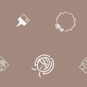 Pattern Design - #IconPattern #PatternBackground #femenine #copy #brush #bust #paint #branch #and
