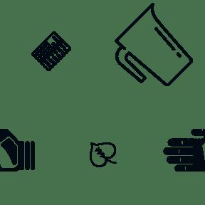 Pattern Design - #IconPattern #PatternBackground #kitchen #foliage #drinks #gloves #water #technology #remix #tool #protection