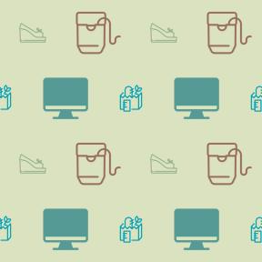 Pattern Design - #IconPattern #PatternBackground #computer #screen #dental #screens #dentist #bread #shoe #tooth