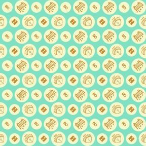 Pattern Design - #IconPattern #PatternBackground #directional #circular #cards #romance #Bet