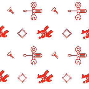 Pattern Design - #IconPattern #PatternBackground #chemistry #stamps #western #wrench #horse #mailing #and