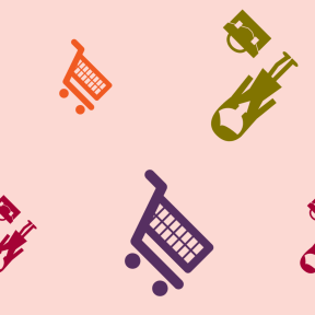 Pattern Design - #IconPattern #PatternBackground #side #education #signals #woman #shopping #tools #female #carts