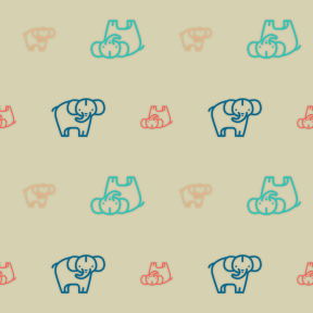 Pattern Design - #IconPattern #PatternBackground #wild #kingdom #mammal #animals #life #animal #zoo #elephant
