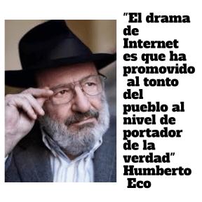 La invasión de los idiotas. Humberto Eco