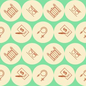 Pattern Design - #IconPattern #PatternBackground #circles #connection #train #symbol #black