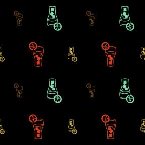 Pattern Design - #IconPattern #PatternBackground #refreshing #alcohol #food #cubes #ice #alcoholic #drinking