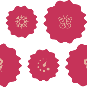 Pattern Design - #IconPattern #PatternBackground #insect #nature #wavy #butterfly #shapes #watch