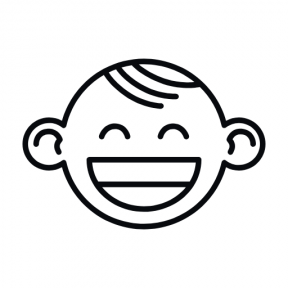 Icon Graphic - #SimpleIcon #IconElement #gestures #happiness #smile #happy #face #portrait