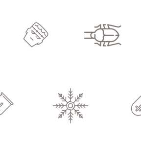 Pattern Design - #IconPattern #PatternBackground #scary #winter #animals #horror #dead