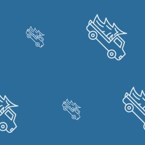 Pattern Design - #IconPattern #PatternBackground #automobile #trees #vehicles #transport #car