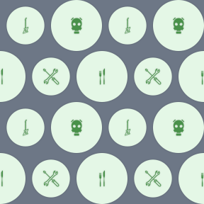 Pattern Design - #IconPattern #PatternBackground #music #drum #shape #cutlery #tool #shapes #orchestra