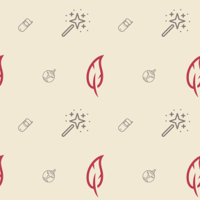 Pattern Design - #IconPattern #PatternBackground #ornament #tool #feather #wizard #magician #communication