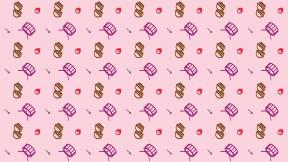 HD Pattern Design - #IconPattern #HDPatternBackground #girl #candies #arrow #cocoa #instrument
