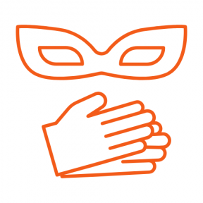 Icon Graphic - #SimpleIcon #IconElement #costume #hands #masks #carnival #theatre #theater #technology