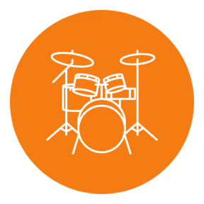 Icon Graphic - #SimpleIcon #IconElement #instrument #musical #geometric #black #drums #shapes