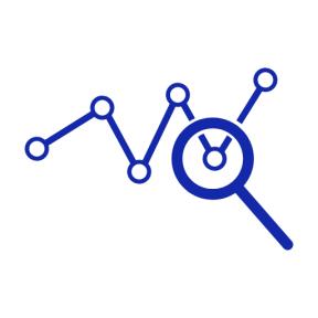 Icon Graphic - #SimpleIcon #IconElement #line #analytics #interface #magnifier #analysis #data #symbol #graphic
