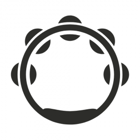 Icon Graphic - #SimpleIcon #IconElement #musical #instruments #music #instrument #tambourine
