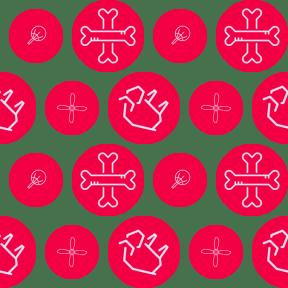 Pattern Design - #IconPattern #PatternBackground #spooky #fans #motor #circular #horror #black #animal #oriental