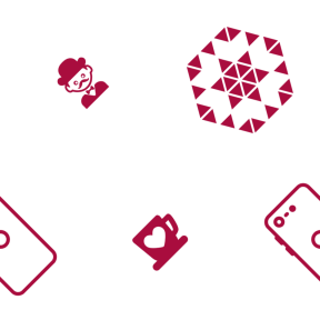 Pattern Design - #IconPattern #PatternBackground #drink #people #points #star #triangles #person #hot #hexagon #moustache #telephone
