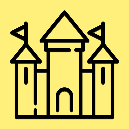 Yellow, Text, Font, Line, Sign, Area, Symbol, Clip, Art, Angle, Monument, Amusement, Medieval,  Free Image
