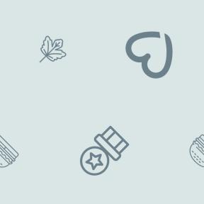 Pattern Design - #IconPattern #PatternBackground #meat #winner #botanical #lover #hamburger #junk #leaf