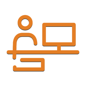 Icon Graphic - #SimpleIcon #IconElement #and #office #man #computer #screen #utensils