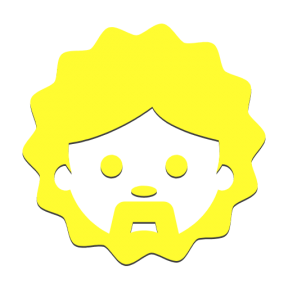 Icon Graphic - #SimpleIcon #IconElement #curly #man #people #face #moustache