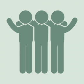 Icon Graphic - #SimpleIcon #IconElement #men #group #side #people #friends #man #by #grouped #three