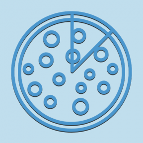 Icon Graphic - #SimpleIcon #IconElement #pepperoni #food #italian #pizzas #sliced #top #salami #view